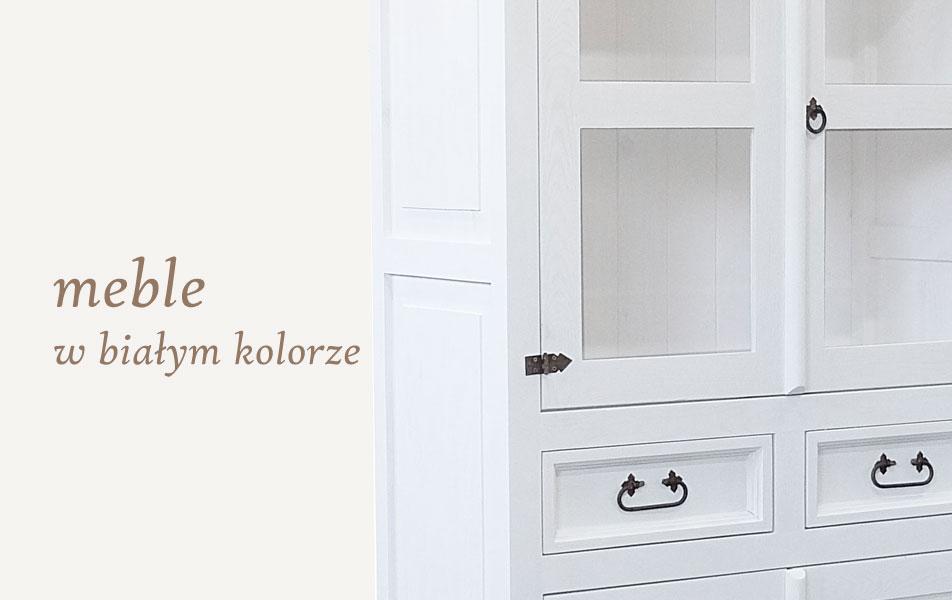 meble białe z drewna